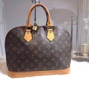 Auth LOUIS VUITTON Alma Monogram Handbag